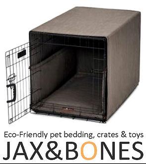 jax and bones eco friendly pet bedding, crates, and toys