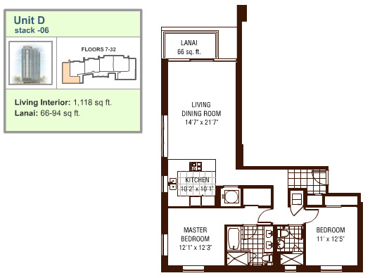 Watermark floor plan D