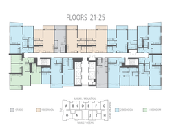 Floors 21 - 25