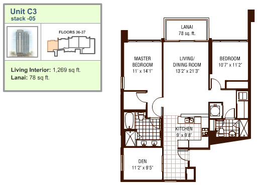 Watermark floor plan C3