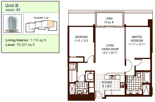 Watermark floor plan B