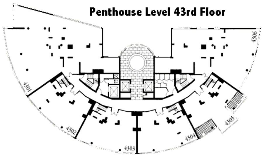 Nauru Tower floor plate - 43rd Floor