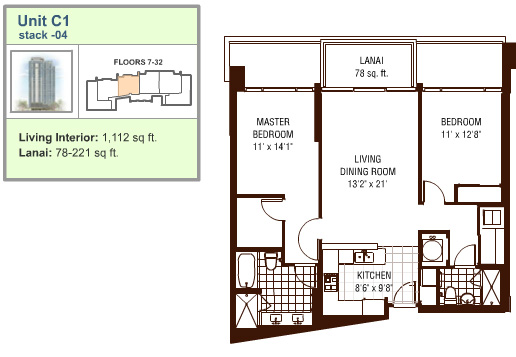 Watermark floor plan C1