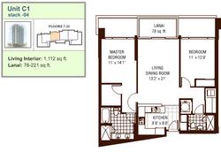 Watermark floor plan C1