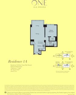 ONE Ala Moana Blvd. Residence 1A