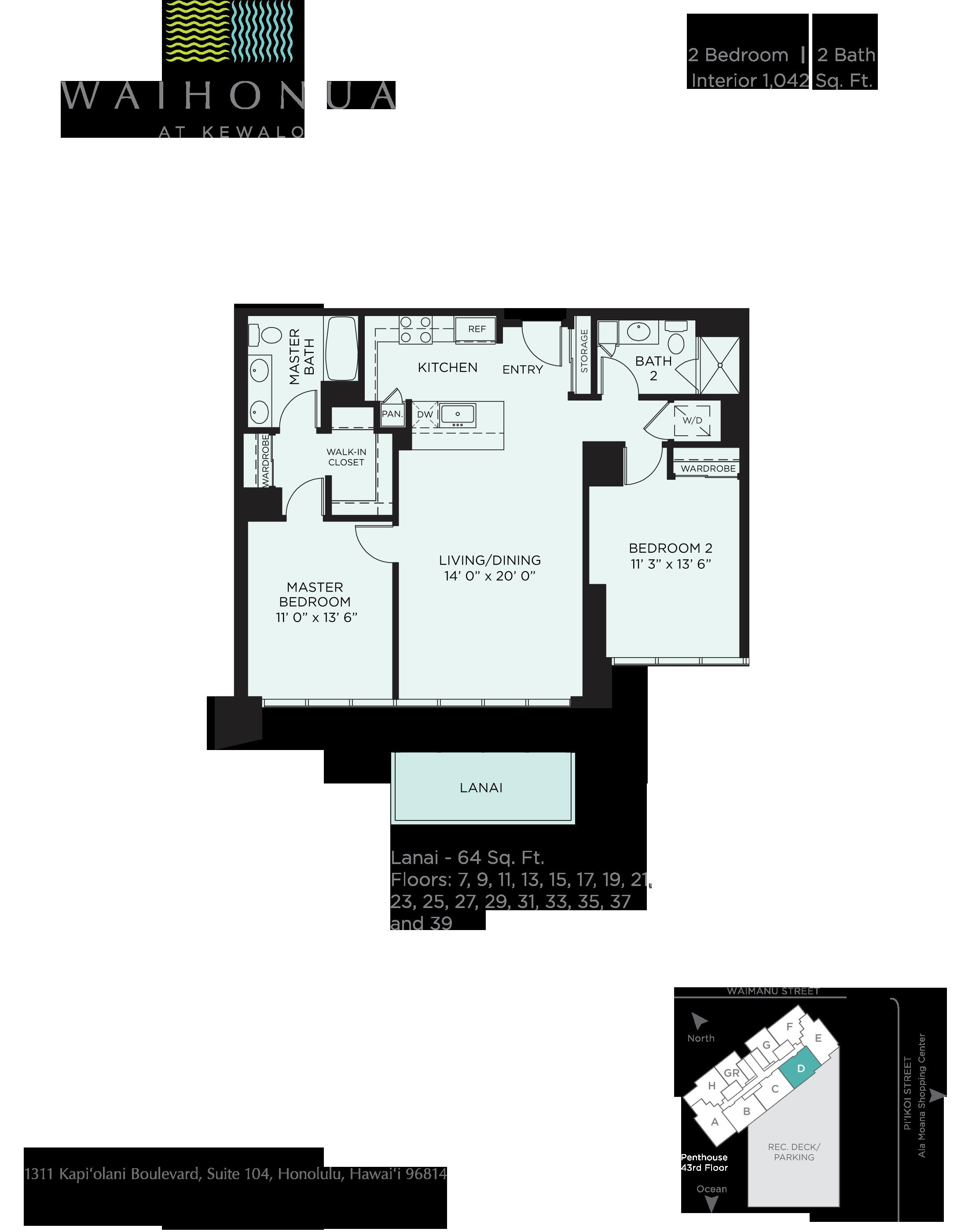 Waihonua Floor Plan D