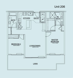 Floor Plan Unit 206