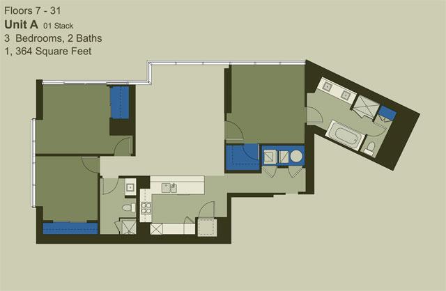 Floor 7-31 Unit A