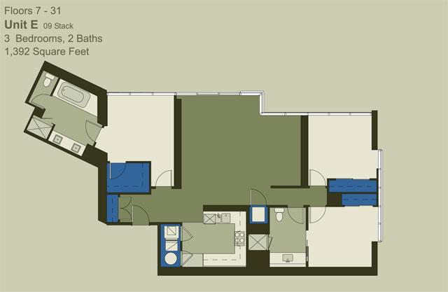 Floor 7-31 Unit E