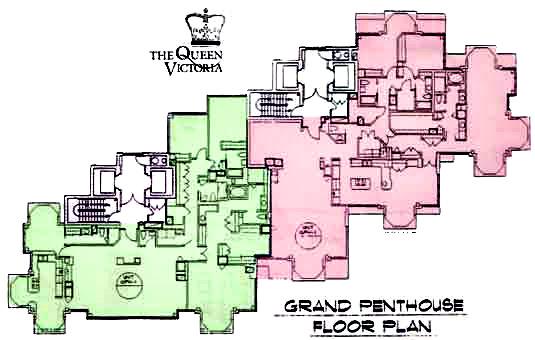 The Queen Victoria Floor Plans