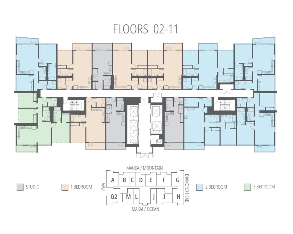 Floors 2 - 11