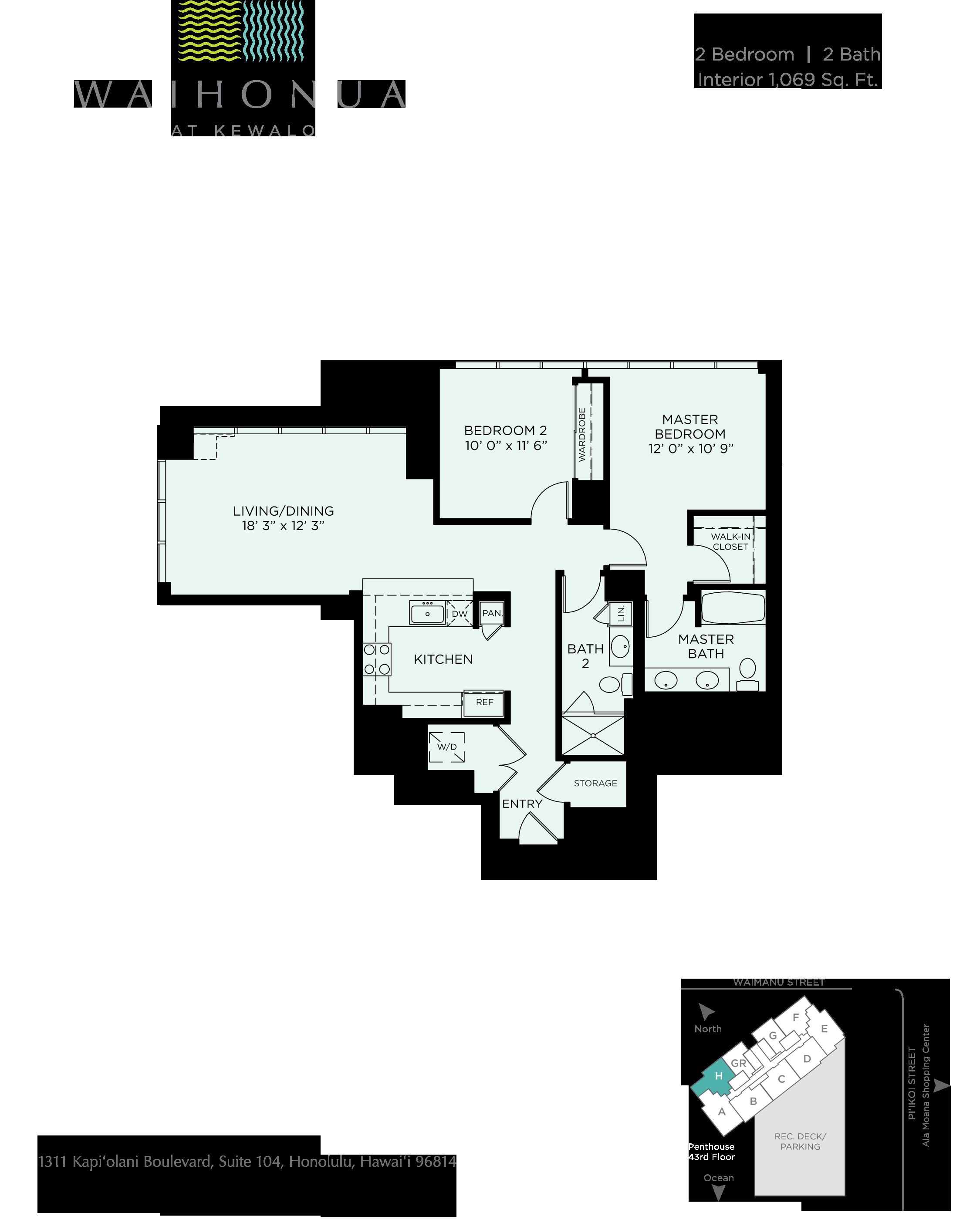 Waihonua Floor Plan H