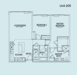 Floor Plan Unit 205