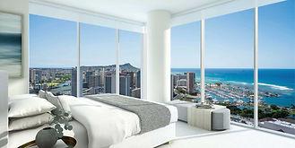 Bedroom view over looking Diamond Head and Pacific ocean