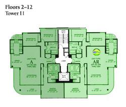 Tower II - Floor Plate  floors 2-12