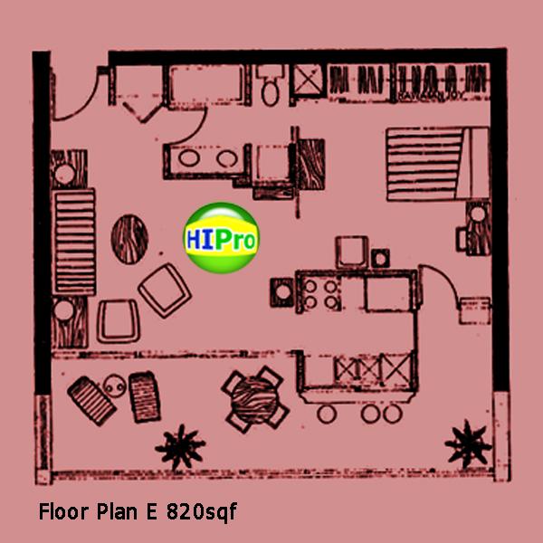 1 Bedroom unit E