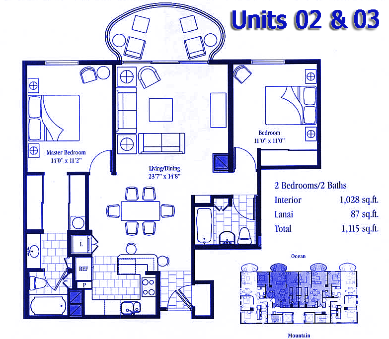 Floor plans 2 & 3(shown)