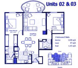 Floor plans 2 & 3(shown)