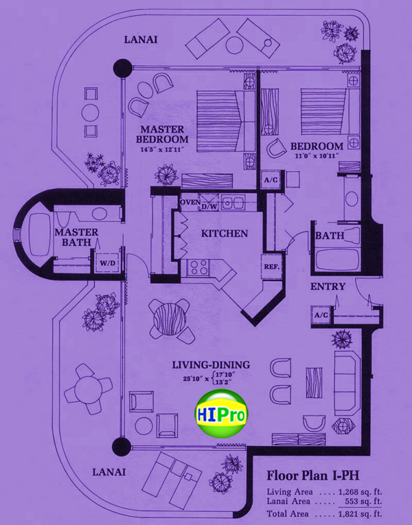Canterbury Place Floor Plan I-PH