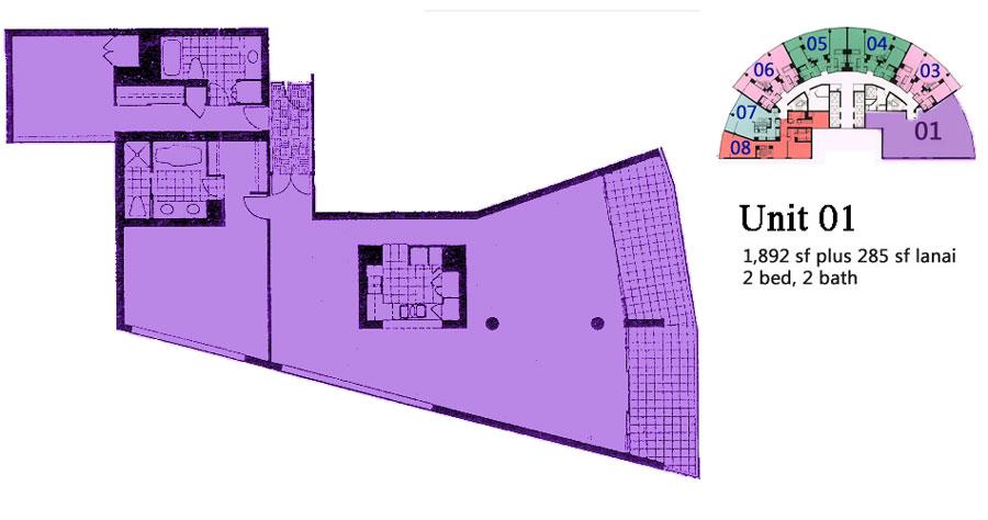 Nauru Tower unit 01 (upper floors)
