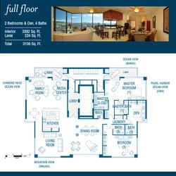 2 Bedrooms 4 Bath full floor