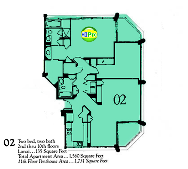 Punahou Cliffs floor plan 02