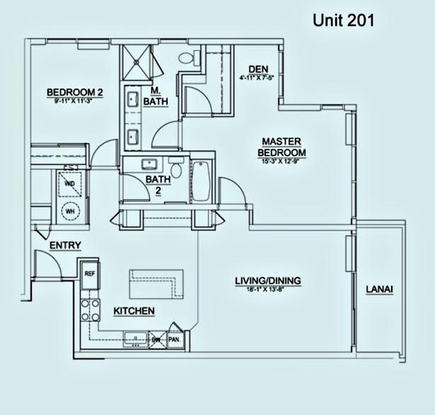 Floor Plan Unit 201