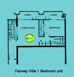 Fairway Villa 1 bedroom unit