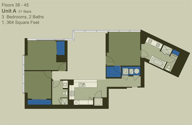 Floor 38-45 Unit A