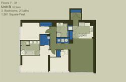 Floor 7-31 Unit B