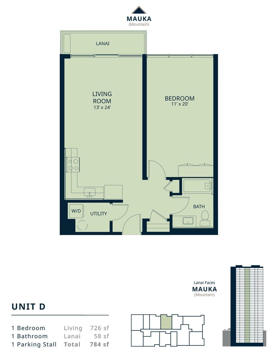 Kapiolani Residence unit D