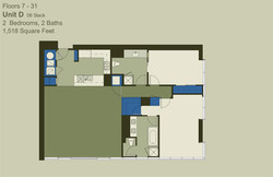 Floor 7-31 Unit D