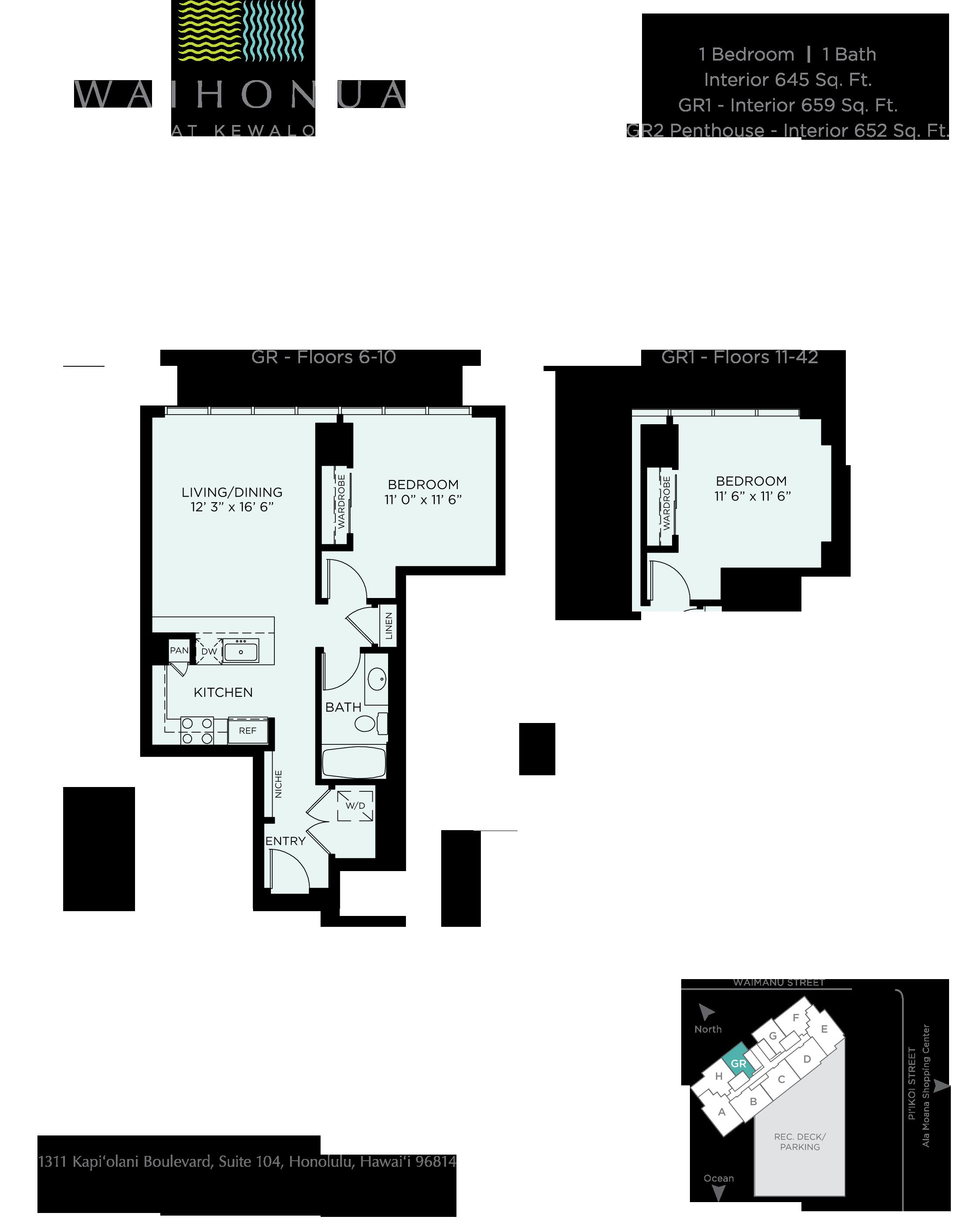 Waihonua Floor Plan GR