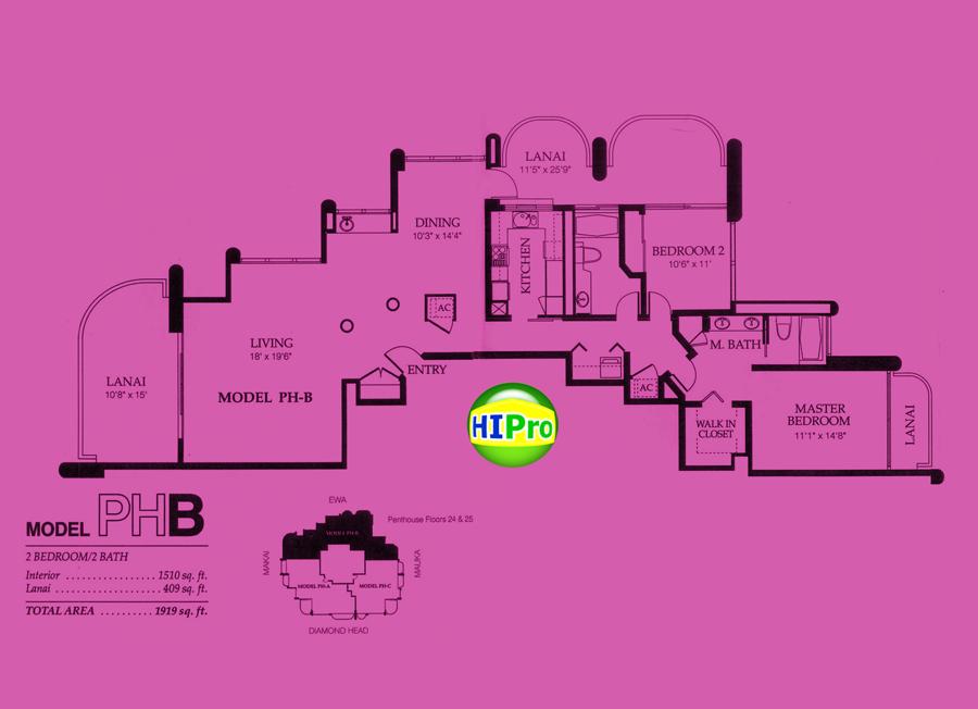 Nuuanu Parkside Penthouse B unit