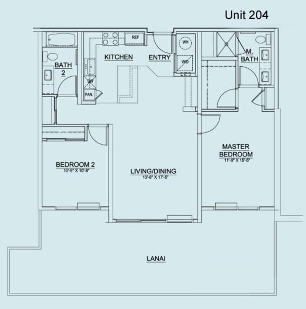 Floor Plan Unit 204