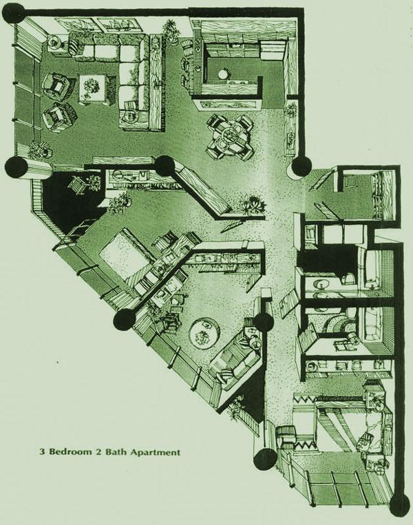 Honolulu Tower floorplan F