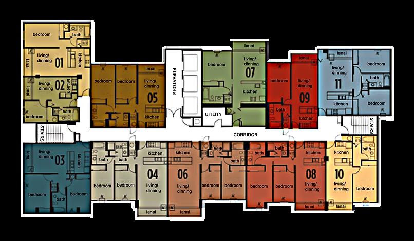 Holomua floorplate & floor plans