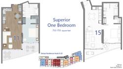 Superior - 1 Bedroom floor plans