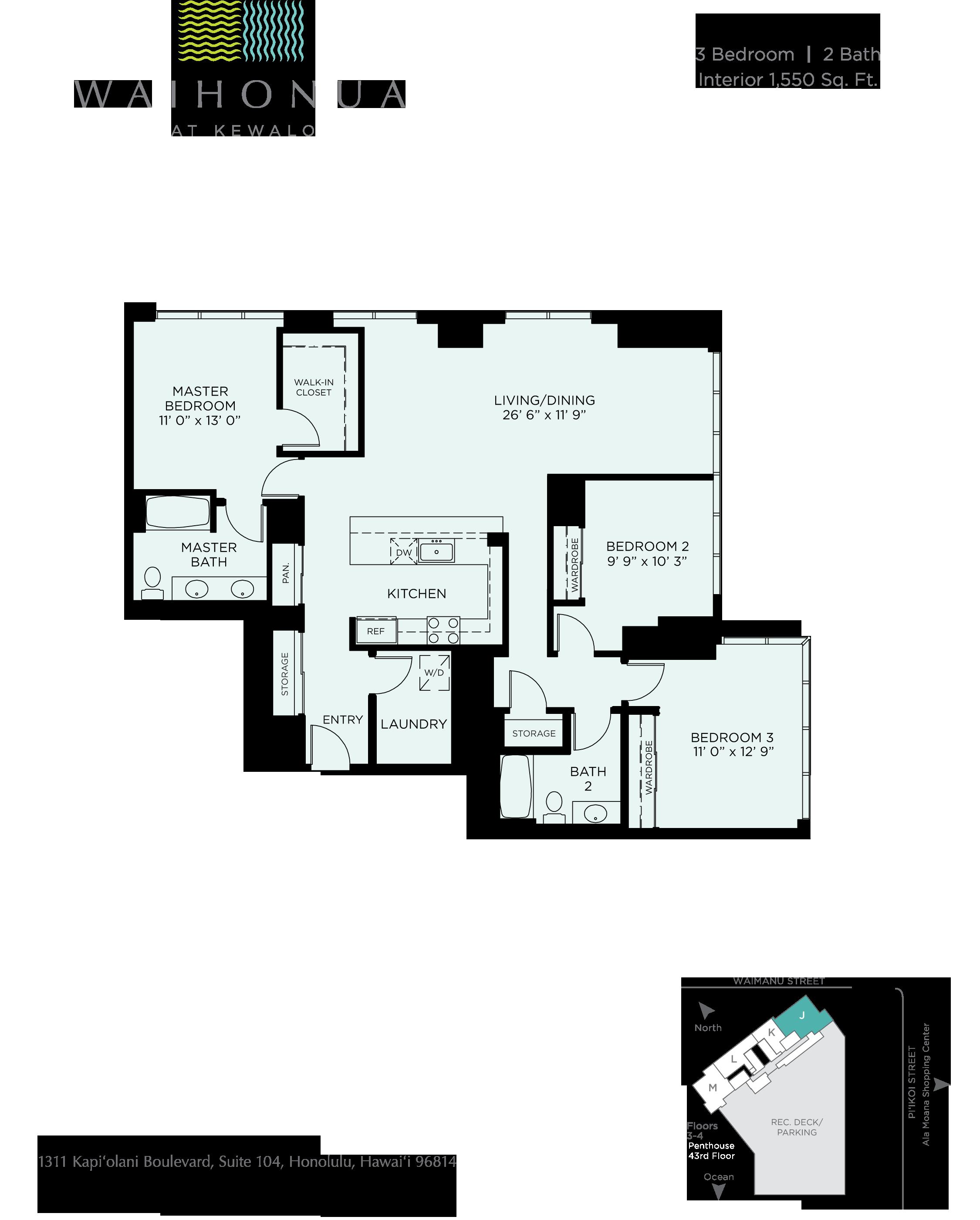 Waihonua Floor Plan J