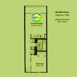 Ala Wai Plaza Unit 1A
