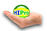 Profile of hand holding HI Pro Realty logo