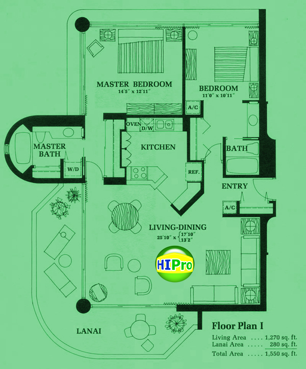 Canterbury Place Floor Plan I