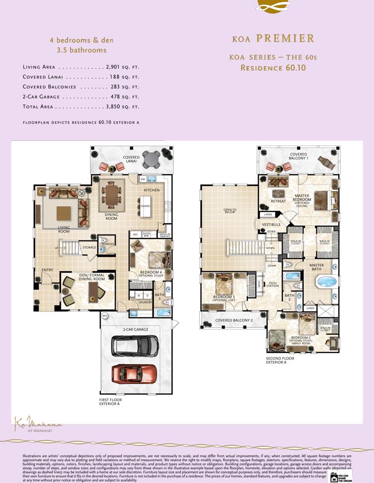 Ka Makana floor plan 60.10