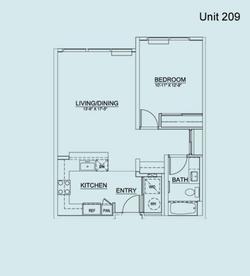 Floor Plan Unit 209