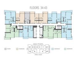 Floors 34 - 43