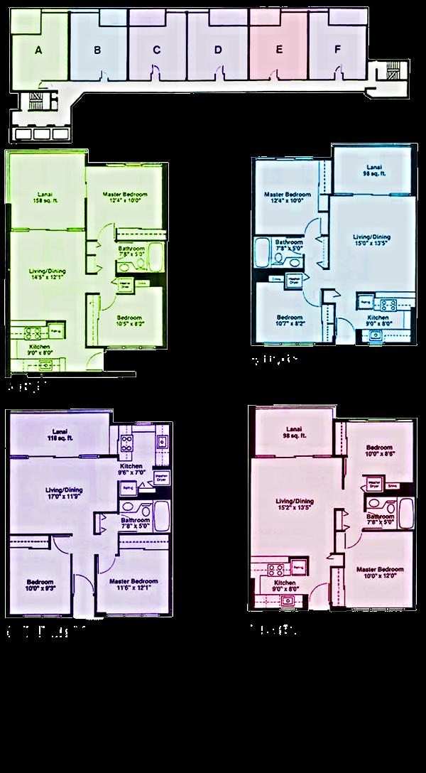 2121 Ala Wai Floorplates and Floor Plans