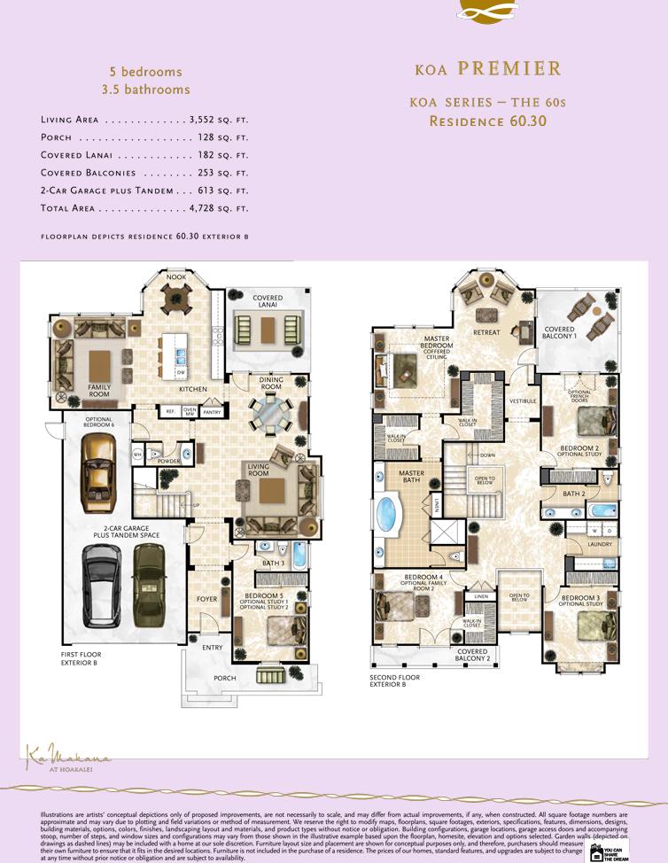 Ka Makana floor plan 60.30