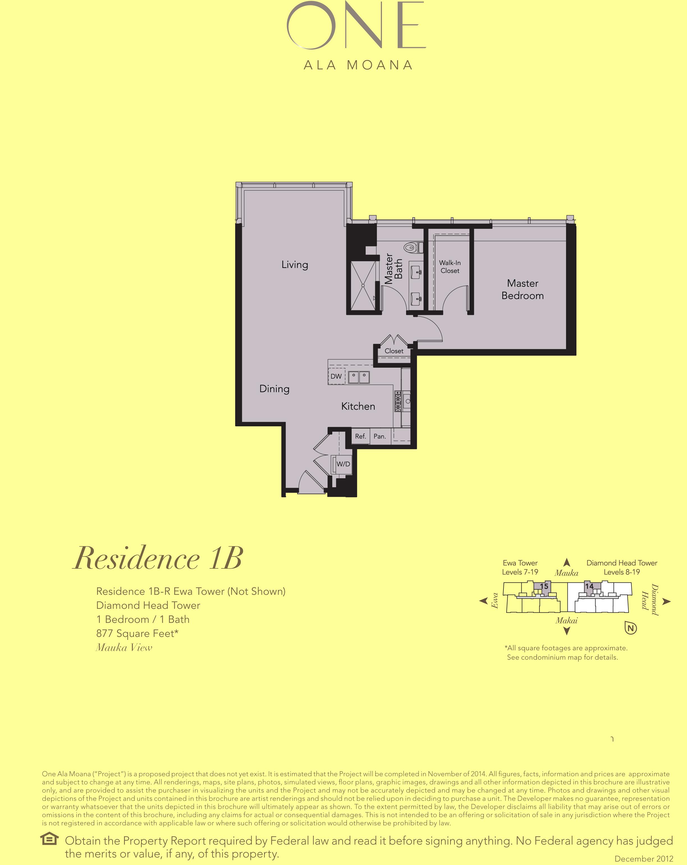 ONE Ala Moana Blvd. Residence 1B