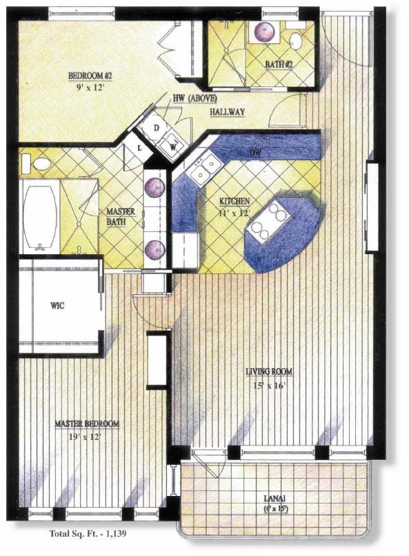 Loft at Waikiki 2 Bedroom