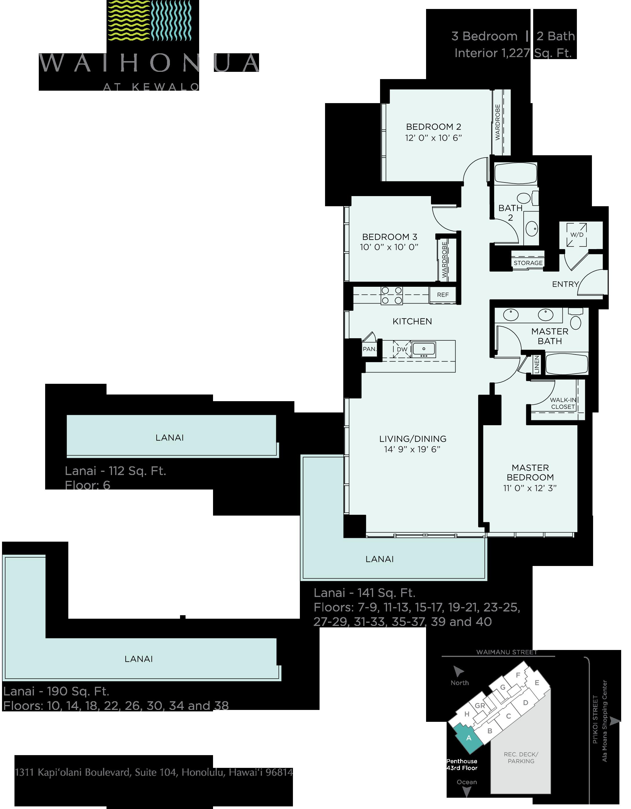 Waihonua Floor Plan A